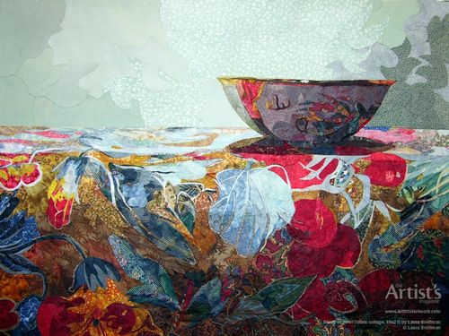 Study of a Bowl_Laura Breitman Fabric Collage