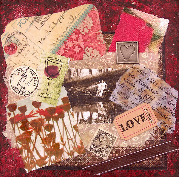 Love-affair-collage-painting-vintage-style-romance-mixed-media-original-catherine-jeltes